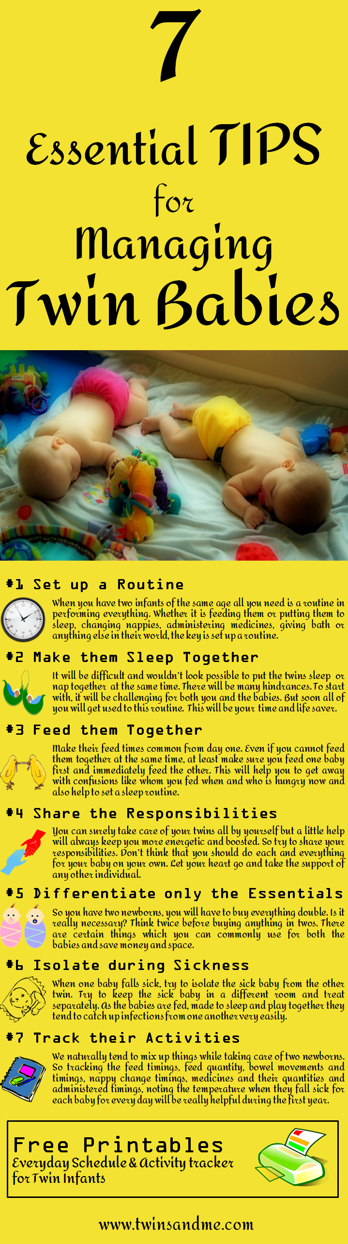 Feeling exhausted about bringing up your twin infants? Need some ideas or  tricks to make
