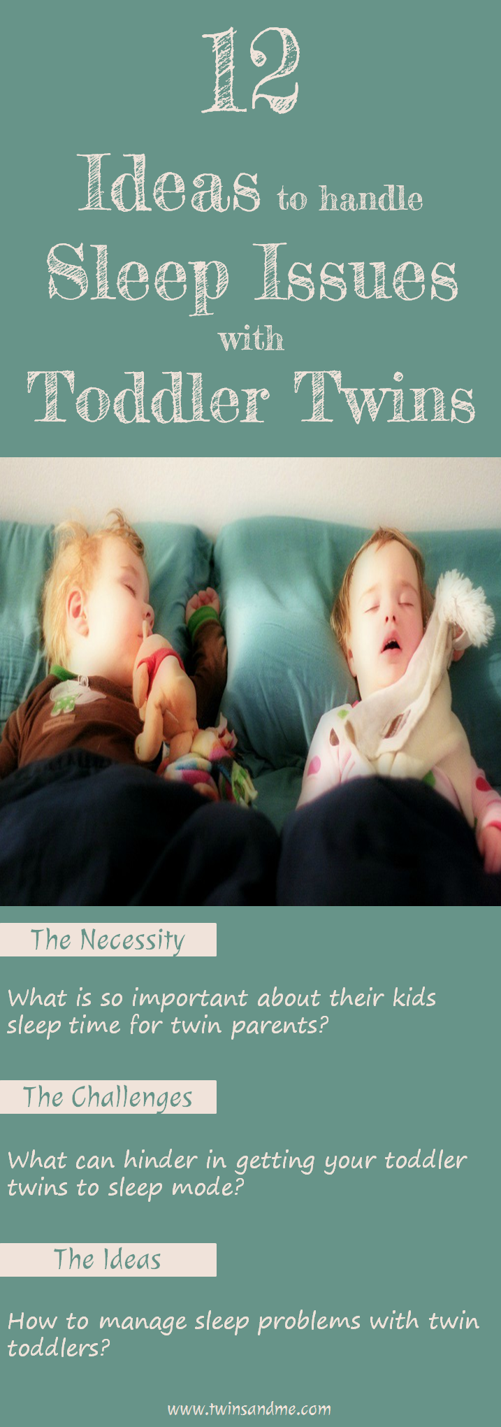 How To Help Kids Manage Sleep >> 12 Ideas To Handle Sleep Issues With Toddler Twins Twins And Me