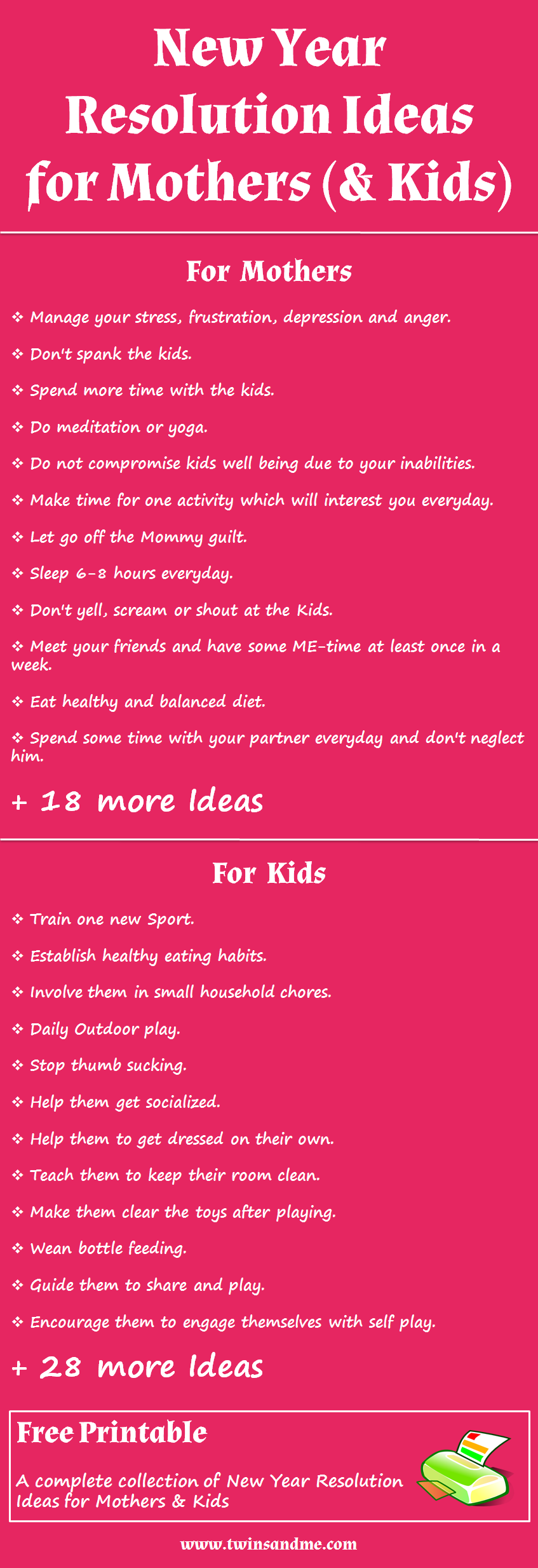 17 New Years Resolutions for Busy Moms